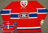 Montreal Canadiens 1946 CCM خمر # 30 كريس نيلان # 23 Bob جنيه # 32 كلود Lemieux # 00 أي اسم حارس المرمى الأحمر قص الهوكي جيرسي