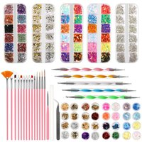 Nail Art Kits 59pcs Acrylic Kit Set Of Milling Cutters For Manicure Brush Decorations All