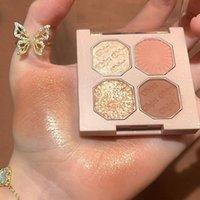Eye Shadow Four Color Eyeshadow Pearly Matte Palette Powder Velvet Makeup Waterproof Long Lasting Fashion Cosmetic