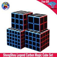 Shengshou Karbon Fiber Sticker Legend Sihirli Küp 2x2 3x3 4x4 5x5 Sensou Legend Hız Küp Seti Profesyonel Cubo Magico Oyuncaklar