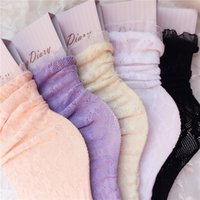 Wholesale- Fashion Women Lace Ruffle Frilly Ankle Socks Harajuku Lovely Cute Vintage Retro Floral Lady White Pink sweet Princess DFF3217