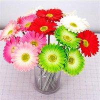10 قطع الاصطناعي gerbera زهرة حقيقية اللمس عباد الشمس نوعية جيدة بو لحضور الزفاف المركزية ديكور المنزل الزهور