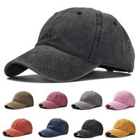 Mens Womens Stone Wash Cotton Polo Hat Baseball Cap Fitted Snap Back Leisure Sports Bucket Hats Dad Trucker Sun Basketball Men Snapback Caps