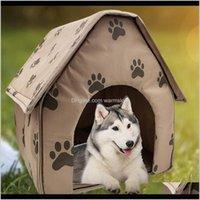 بيلاتال باينز لوازم حديقة المنزل تصميم حساسة طوي منزل البصمة الصغيرة حدبة السرير خيمة القط بيت الكلب السفر الكلب إسقاط التسليم