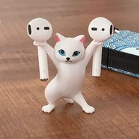 Dans eden kedi sahipleri, 1 adet tiktok yavru kedi tabut dans kablosuz kulaklık standı askılar sevimli kalem tutucu oyuncak bebek, masaüstü süsler ve aksesuarları, süslemeleri