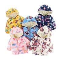 Jackets 2021 Plus Velvet Autumn Baby Girls Warm Down Cotton Clothes For Outerwear Coat Hooded Parka Thicken Boy's Kids Winter Jacket