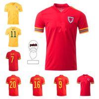 2021 Galles National Team Soccer Jerseys Jerseys Jeux Version Euro Coupe Coupe Cymru Accueil Ball Bale James Ramsey Jersey Men Maillot de Football Chemises Camisetas