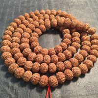 108 stücke Vajra Bodhi Rudraksha Perlen für die Herstellung von Schmuckmeditation Mala Gebet tibetanischer Buddhismus für Halskettenarmbänder Zubehör 904 Q2
