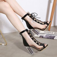 Botas de tobillo para mujer PVC de verano CRISTAL TRANSPARENTE TEJORAL TOELS ROWERS BOOTS Mujeres Zapatos de cremallera Primavera Otoño Peep Toe Botas Mujer