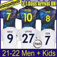 21 22 Dele Son Bale Kane 축구 유니폼 Hojbjerg Bergwijn Lo Celso Spurs 2021 2022 Lucas 축구 셔츠 유니폼 남성 + 키트 키트