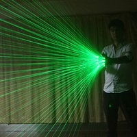 Multi-line Green Laser Party Gloves Luminous for LED Robot Suit Dress Bar Music Festival Stage Supplies
