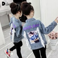 Jackets Kids For Girls Jean Jacket Little Girl Clothes Teenage Clothing Fashion Fall Winter Coat