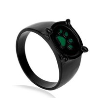 Meninas anel gato preto pata verde cópia quente animal anéis para mulheres homens senhora fã cosplay brinquedos miúdo moda jóias Novo
