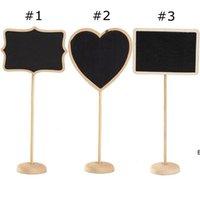مستطيل القلب شكل الخشب البسيطة خمر السبورة مكان حامل بطاقة حامل للحلوى الجدول الدفتر رسالة مجلس كليب الزفاف dhf6655