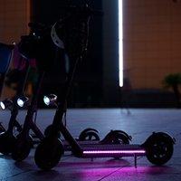 Scooter LED tira lanterna lâmpada de bar para para xiaomi m365 scooter elétrico skate noite luz 549 x2