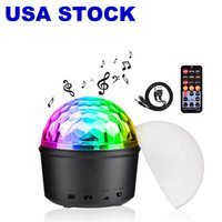 LED Effects 9 Color Bluetooth Stage Lights DJ Rotating Crystal Magic Ball Light Sound Activated Lighting with Remote Control MP3 Play and USB for KTV Club Pub Show
