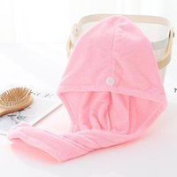 Shower Caps For Magic Quick Dry Hair Microfiber Towel Drying Turban Wrap Hat Cap Spa Bathing NHE6234
