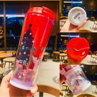 Starbucks Cup 2021 Christmas Tumblers New Red Gingerbread Man Penguin Bear Drinking Coffee Cups