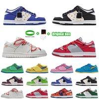 [팔찌 + 양말 + 원래 상자]Supreme x Nk SB Dunk Low joint casual sports skateboard shoes OFF-WHITE x Nike Dunk Low x FL tripartite joint Dancing Bear