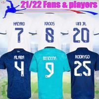 21 22 Реал Мадрид Мбаппе Футбол Футбол Опасность Алаба Бензема Уини-младший. 2021 2022 3-й КРОС Фанса игроки Камиссета ISCO Футбол Джерси Модрическая Рубашка S-4XL