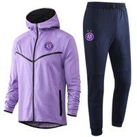 2021 Avusturya Wien Erkekler Futbol Eşofmanlar Ter Suits Spor Spor Erkek Hoodies Ceketler Eşofman Jogger Takım Elbise Ceket Pantolon Kitleri Futbol Eğitim Setleri