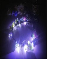 Ballroom Dance Led Light Costumes Luminous Garland Rattan Women Headwears Stage Show Dress Cloloth Party Dj Performance Bar Decoration