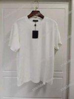 21ss الرجال المطبوعة تي شيرت النقش إلكتروني الملابس قصيرة الأكمام رجل العلامة خطابات بولو أسود أبيض أزرق بني 01