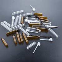 100pcs lot 2ml Mini Small Glass Vials With Sticker In Bottles For Perfume or Essential Oil Test Bottle