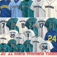 Mariners 24 Ken Griffey Jr. Jersey 51 Suzuki Ichiro 34 Felix Hernandez Seattle 11 Edgar Martinez 17 Mitch Haniger 0 Mallex Smith 15 Kyle Seager 7 Marco Gonzales Jerseys