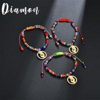 Bracelet en acier inoxydable multicolore en acier inoxydable Multicolore Multicolore Femmes Femmes Anniversaire cadeau de Noël perlé, Strands