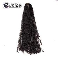 """Eunice Capelli sintonizzati per 24 """"5pcs Cro-nodo Micro Zizi Estensioni per capelli stile Bohemian Style Pure Color Freetress Crochet Treccia"""