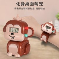 Children's Deformation Pet Electronic Watch Toy Student Creative Cartoon Transformation Animal Clock 3-year-old 4-year-old Boy and Girl