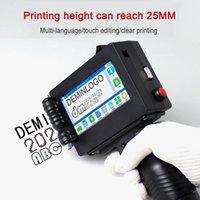 Automatic Inkjet Printer 25.4mm Logo Handheld Expiry Date Code Machine Wooden Box Carton Bag Packaging Scan Gun Printers