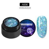 Nail Gel 1@# Blue Polish Glitter Paint Hybrid Varnishes Shiny Top Base Coat For Nails Set Semi Permanent Manicure Art