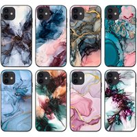 Shockproof TPU Mobile Cell Phone Cases For Iphone 13 13mini 13pro 13promax 12promax 12 12pro 12mini 11 Xs Max Mini Pro Promax Ink And Painted Marble