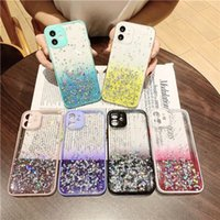 For Iphone 12 Mini 11 Pro Max XS X XR 8 7 6 Plus Full Camera Protection Bling Phone Case Cover Fine Hole Design