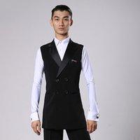 Camicie da ballo da ballo Latino Camicie da ballo Black Long Beat Cappotto Maschio Waltz Flamengo Cha Vestiti Concorrenza Performance Abbigliamento DNV11344