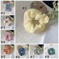 Menina Scrunchy Hairbands Candy Cor de Borracha Feminino Headband Cabelo Cabelo Corda Acessórios 8 Cores HHC7044