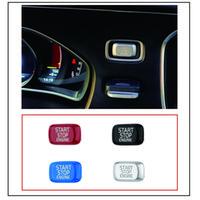 ABS Plastique Moteur de voiture Démarrer Bouton d'arrêt Bouton de rechange Couvercle de rechange Autocollant ACCESSIORES APPORTÉ POUR VOLVO V40 V60 S60 XC60 S80 V50 V70 Cylisme automatique