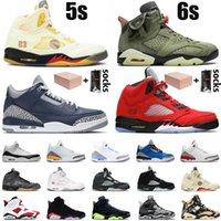 Nike Air Jordan Retro With Box White Off Sail Jumpman 5 6s Womens Mens Basketball Shoes Travis Scott Georgetown Anthracite 5s Stealth 2.0 6 Hare Carmine Sneakers 트레이너