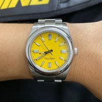 U1 Factory ST9 Hot New Model Yellow Dial 36MM Women Watch Stainless Steel Watches Automatic Mechanical Movement Waterproof Sapphire Glass 124300 114200