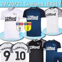 Derby County Soccer Jerseys 32 Rooney 10 Lawrence 9 Waghorn 8 Dowell 7 Paterson Custom Home Alewing Kids Adult Football Shirt Thai 2020 2021