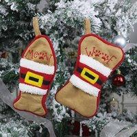 Творческие рождественские чулки многофункциональные столовые приборы сумка малыш подарок сумка рождественское дерево орнамент носок домашняя вечеринка украшения кулонкой конфеты сумки LLE10475