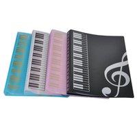 File del biglietto da visita 30pcs Music Scheda Punteggio File Documenti Carta Carta di archiviazione Porta cartella Plastica A4 Dimensioni 40 tasche pacchetto