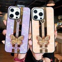 Lusso Bling Rhinestone Ring Diamond Anello Glitter Case Protector Custodia per iPhone 12 Pro Max 12 Mini 11 Pro X XS XR XS Max 6 7 8 Plus