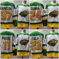 미네소타 야생 # 97 Kirill Kaprizov 화이트 2021 Reverse Retro Jersey Matt Dunbar Zach Parise Kevin Fiala Ryan Suter Cam Talbot Hockey Jerseys