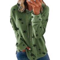 Skyshow--2021 New Women'S Casual Hoodie Striped Printed Sweatshirt Long Sve Drawstring Pullover Top Shirt, Cotton