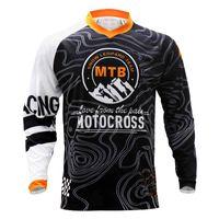 2021 с длинным рукавом Crossmax Moto Jersey Mountain Bike Ткань MTB Велосипедная футболка DH BMX Велосипедные рубашки Offroad Motocross Носить X0503
