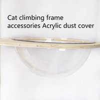 Cat Climbing Frame Accessories Hemispherical Acrylic Space Transparent Litter Dust Cover Beds & Furniture