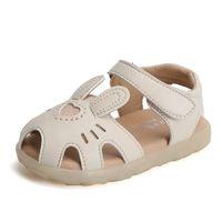 Claladoudou 12-16 cm 0-3 años viejos niñas de verano sandalias de verano lindo dibujos animados de punta de punta de la fiesta de cumpleaños zapatos para niños pequeños